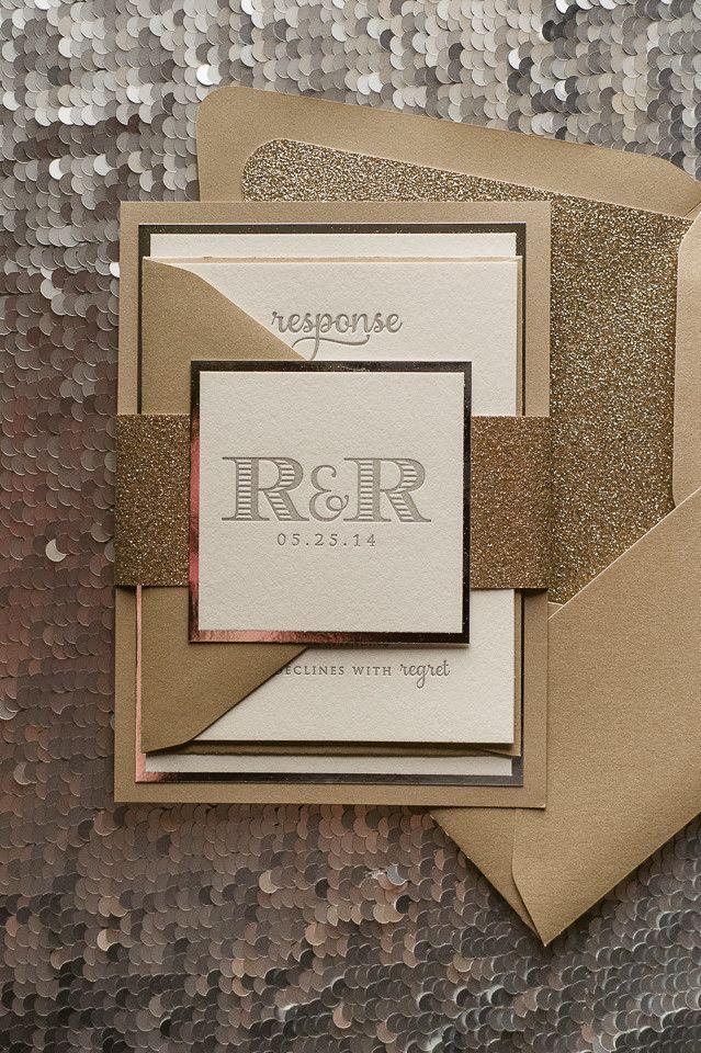 metallic invitations
